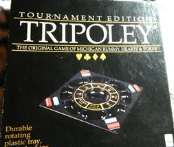 Tripoley Tournament Edition by Cadaco Board Game 1989 Turntable - $45.00