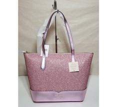 NWT Kate spade lola glitter tote pink laptop shoulder bag satchel handbag - $93.00