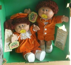Rare Vintage Coleco 1985 Cabbage Patch Kids Twins Dolls Limited edition - $164.84