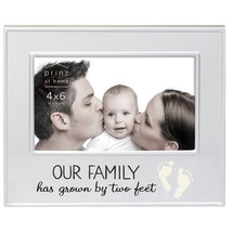Prinz 'Our Family Has Grown By Two Feet' Metal Picture Frame - £16.04 GBP