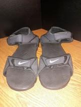 Nike Santiam Hiking Sports Black Gray Sandals Boys or Girls 4Y 4 Youth - $15.79