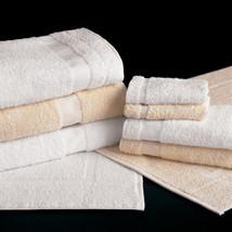 Martex Cam Border Large Size  Bath Towel Color White Pkg of One Dozen - $49.45