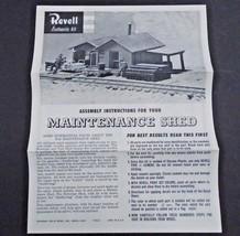 REVELL MAINTENANCE SHED TRAIN  MODEL INSTRUCTION SHEET ©1959 - $9.95