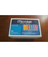 100-count Box Ascensia/Bayer Microlet Sterile Lancets 6586W Exp 06-2024 ... - $29.49