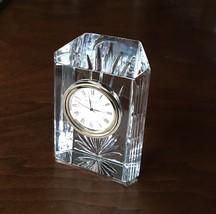 Waterford Crystal Art Deco Boudoir Clock Signed Ireland - $112.50