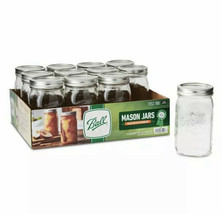 Ball, Glass Mason Jars with Lids & Bands, Wide Mouth, 32 oz, 12 Count - $28.04