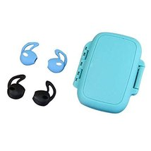 (Blue + Black) 2 Pairs Soft Silicone Ear Tips Earpods Cover Earphone Case - $9.35