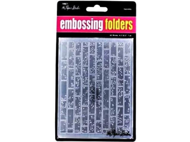 The Paper Studio Embossing Folder Bricks #749671