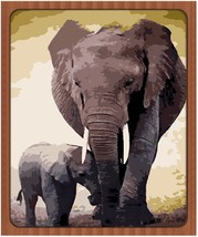 "Elephant Animal 16X20"" Paint By Number Kit DIY Acrylic Oil on Canvas Unf... - $8.90"