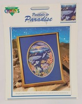 Porthole to Paradise Whale Ocean Cross Stitch Leaflet Book Color Charts 1990  - $18.99