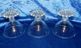 3 Vintage Early Anchor Hocking Candlewick Boopie Clear Sherbet/Dessert Glasses - $14.80