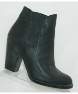 Betsey Johnson 'Nattalie' black man made pull on elastic bootie heels 7M - $37.04
