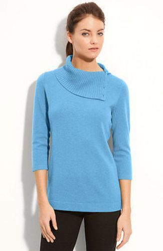 Primary image for $189 XS Classiques Entier Atelier Light Blue Cashmere Sweater Turtleneck Collar