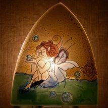Fused Art Glass Garden Fairy Design Night Light Handmade in Ecuador image 7