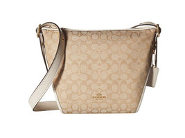 H4 COACH Signature Light Khaki Chalk Women's Small Dufflette Handbag - $157.49