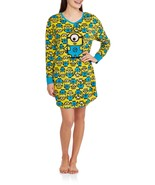 NEW WOMENS PLUS SIZE 2X/3X 20W-24W DESPICABLE ME MINIONS NIGHTGOWN NIGHT... - $19.34