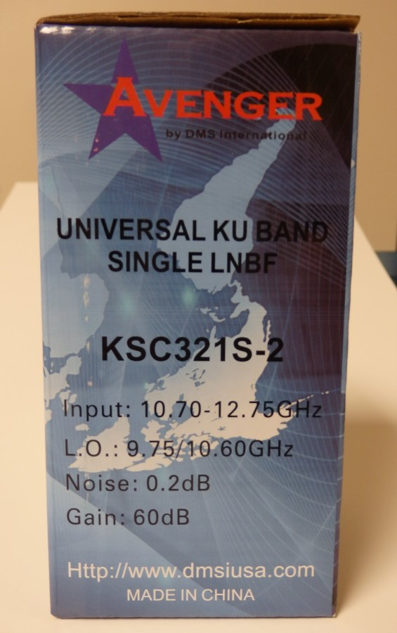 Universal Ku LNBF Model KSC321S-2 0.2 dB Noise Figure by DMSIUSA