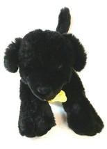 Build A Bear Black Labrador Puppy Dog Collar Floppy Ears Stuffed Animal Sound  - $24.70