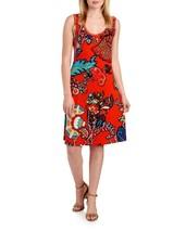 NWT PRIMISE PETITE MED FLORAL PRINT STUDDED TANK DRESS $98 - $44.99