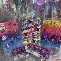FULL Vintage Lisa Frank Holiday Christmas Silly Senders Kitten Sticker Sheets