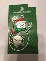 "Christmas Tree Ornament Snowman ""Jonathan"" Vintage Rare Ships N 24h - $11.86"