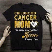Childhood Cancer Mom Most People Never Meet Their Heroes Ladies T-Shirt ... - £14.51 GBP+