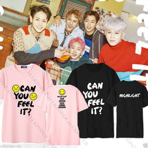 KPOP Highlight T-shirt CAN YOU FEEL IT Tshirt Unisex DUJUN Short Sleeve ... - $9.66