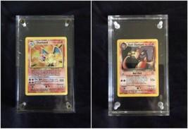 Pokemon Gerahmt Unbegrenzte Basis Set Charizard 4/102 & Dunkel Karte Hol... - $524.97