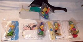 Burger King Simpsons camping trip figures & CARDS all sealed 1990 COMPLE... - $29.99