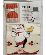 """3 pc. Embroidery Curtains Set: 2 Tiers & Swag (60""""x36"""") FAT CHEF W/TRAY,... - $21.77"""