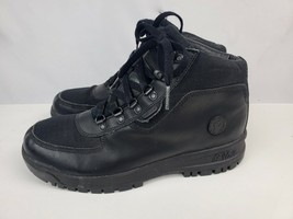 Reebok G Unit black leather lace up boots Youth Size 5.5 Women's VG condition - $37.39