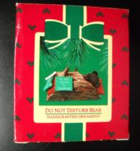 Hallmark Keepsake Christmas Ornament 1985 Do Not Disturb Bear in a Log B... - $7.99