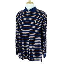 Polo Ralph Lauren Men's Mesh Long Sleeve 100% Cotton Navy Stripe Shirt XL - $26.76