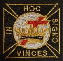 """Knight's Templar """"In This Sign Conquer"""" Christian Order Patch - $10.99"""