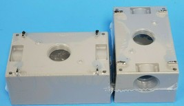 LOT OF 2 NEW BELL OUTDOOR 5324-0 SINGLE-GANG BOXES 3/4INCH PORTS CAST ALUMINUM image 2