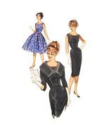 1960s Vtg Butterick Sewing Pattern 9563 Misses Sheath Flared Dress Jacke... - $24.95