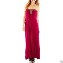 a.n.a Beaded Maxi Magenta Dress Size Medium New With Tags - $21.99