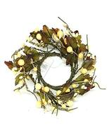 """Oddity Inc. 2"""" White Berry and Leaves Candle Ring - £10.51 GBP"""
