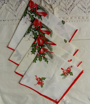 4 x Christmas Serviettes / Napkins, Made In Portugal, Vgc - $19.72