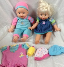 Mattel Fisher Price Little Mommy Dolls Outfits Bottle hat Lot bodysuits ... - $28.04