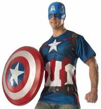 Captain America Top Avengers Age Ultron Superhero Marvel Halloween Adult Costume - $31.14