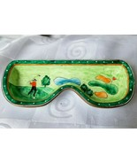 Kelvin Chen Eyeglass Holder Hand Painted Enamel Copper Tray Golf 2001 No... - $37.95