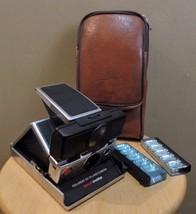 Vintage POLAROID SX 70 SONAR One Step Folding CAMERA w Original CASE & F... - $85.00
