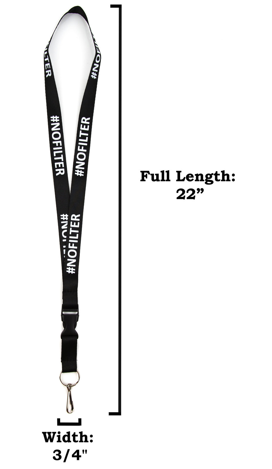 NOFILTER Lanyard Keychain and ID Holder with Detachable, Breakaway Buckle for Ke