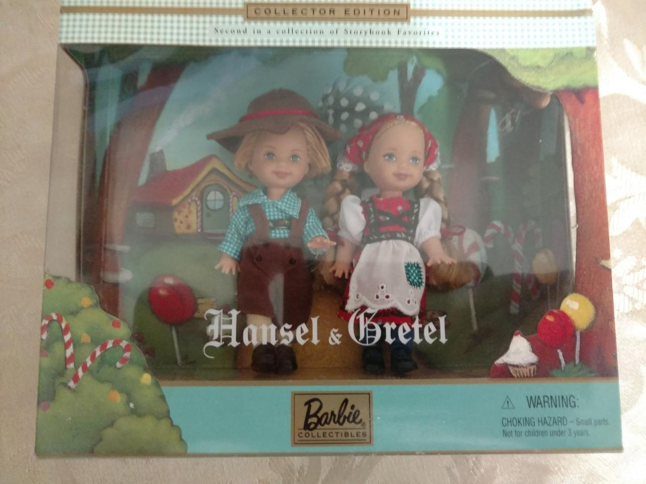 "Primary image for BARBIE COLLECTIBLES HANSEL & GRETEL 4½"" DOLL SET 2000"
