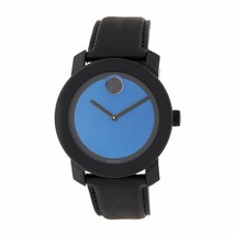 Movado Men's 3600481 Bold Black Leather Watch - $382.17
