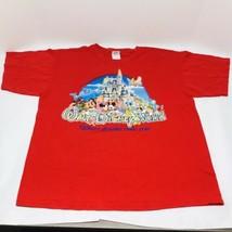 Walt Disney World Large Red T-Shirt Magic Kingdom Where Dreams Come True - $19.75