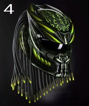 Predator Motorcycle Helmet Light Green Fire (Dot / Ece Certified) - $355.00