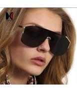 SHAUNA Oversize Women Half Frame Sunglasses Fashion Men Gradient Goggle ... - $97.36