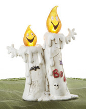 Halloween Boo  Friendly  Ghosts  Lighting Led  Candle Figurine Resin New - €12,79 EUR